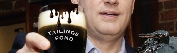 Tailings Pond Beer Takes Harper Down