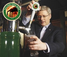 Image from HvH post: The Tailing Pond Beer Gets Caucus Approval - also see collected edition.